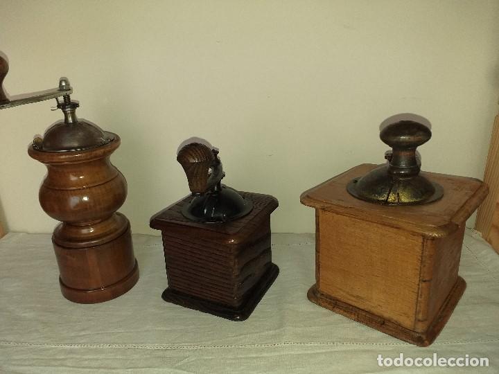 Antigüedades: 3 Molino Molinillo de cafe Italianos de la firma TRE SPADE y Marca B*T Depositata. - Foto 3 - 199370093