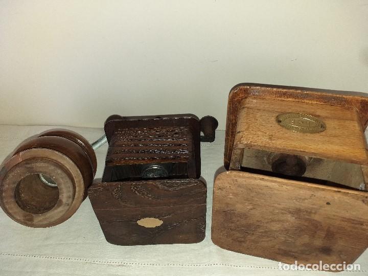 Antigüedades: 3 Molino Molinillo de cafe Italianos de la firma TRE SPADE y Marca B*T Depositata. - Foto 9 - 199370093