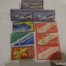Antigüedades: LOTE 8 ANTIGUAS CUCHILLAS DE AFEITAR SIN USAR, AÑOS 50-60. Lote 199425997