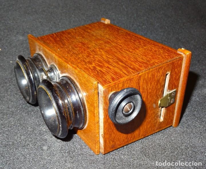 Antigüedades: Estereoscopio eduardino, madera de caoba, circa 1900 - Foto 2 - 199454625