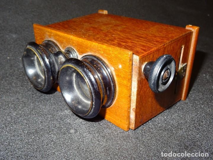 Antigüedades: Estereoscopio eduardino, madera de caoba, circa 1900 - Foto 3 - 199454625