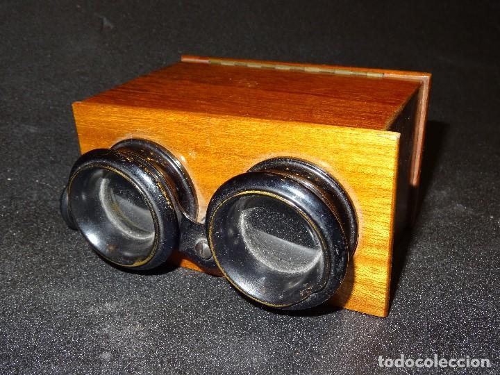 Antigüedades: Estereoscopio eduardino, madera de caoba, circa 1900 - Foto 4 - 199454625
