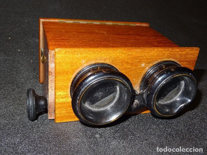 Antigüedades: Estereoscopio eduardino, madera de caoba, circa 1900 - Foto 5 - 199454625
