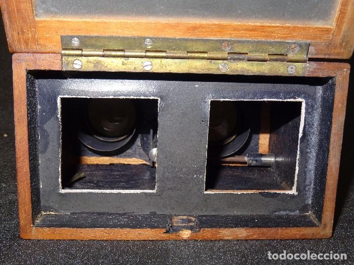 Antigüedades: Estereoscopio eduardino, madera de caoba, circa 1900 - Foto 10 - 199454625