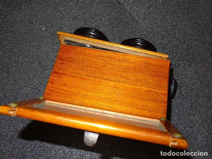 Antigüedades: Estereoscopio eduardino, madera de caoba, circa 1900 - Foto 11 - 199454625