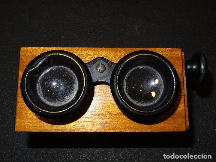 Antigüedades: Estereoscopio eduardino, madera de caoba, circa 1900 - Foto 13 - 199454625