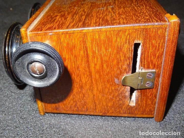Antigüedades: Estereoscopio eduardino, madera de caoba, circa 1900 - Foto 14 - 199454625