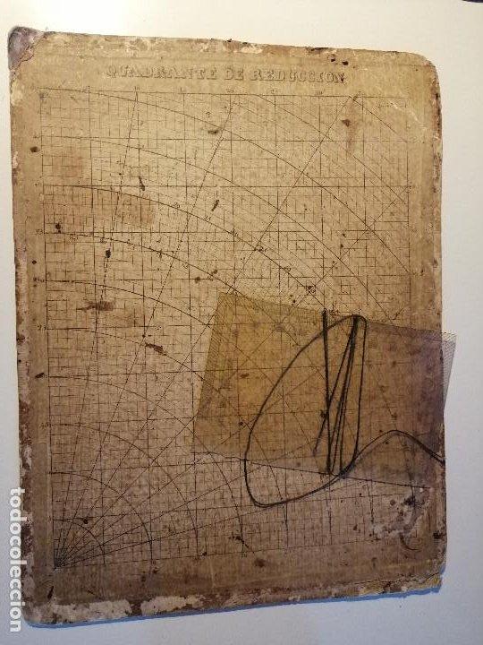 QUADRANTE DE REDUCCIÓN Y TRANSPORTADOR NAUTICO ROSELL, BARCELONA CA. 1870-90 (Antigüedades - Antigüedades Técnicas - Marinas y Navales)