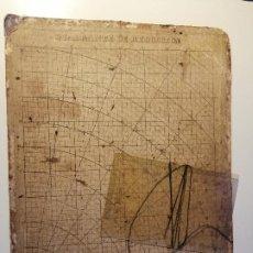 Antigüedades: QUADRANTE DE REDUCCIÓN Y TRANSPORTADOR NAUTICO ROSELL, BARCELONA CA. 1870-90. Lote 199483116