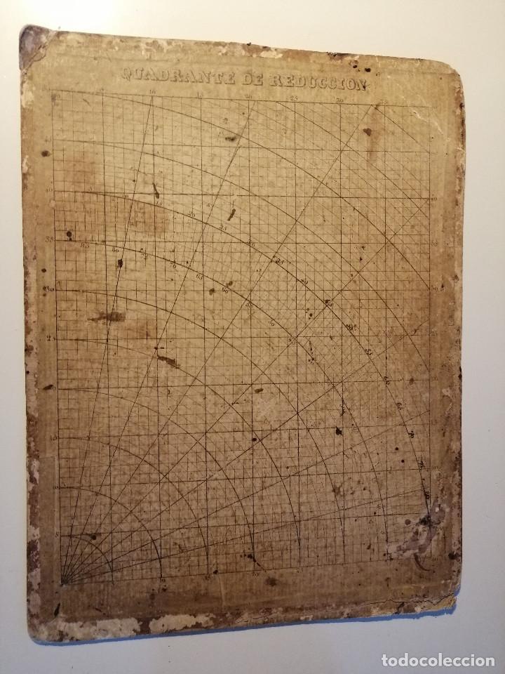 Antigüedades: Quadrante de Reducción y Transportador Nautico Rosell, Barcelona Ca. 1870-90 - Foto 2 - 199483116