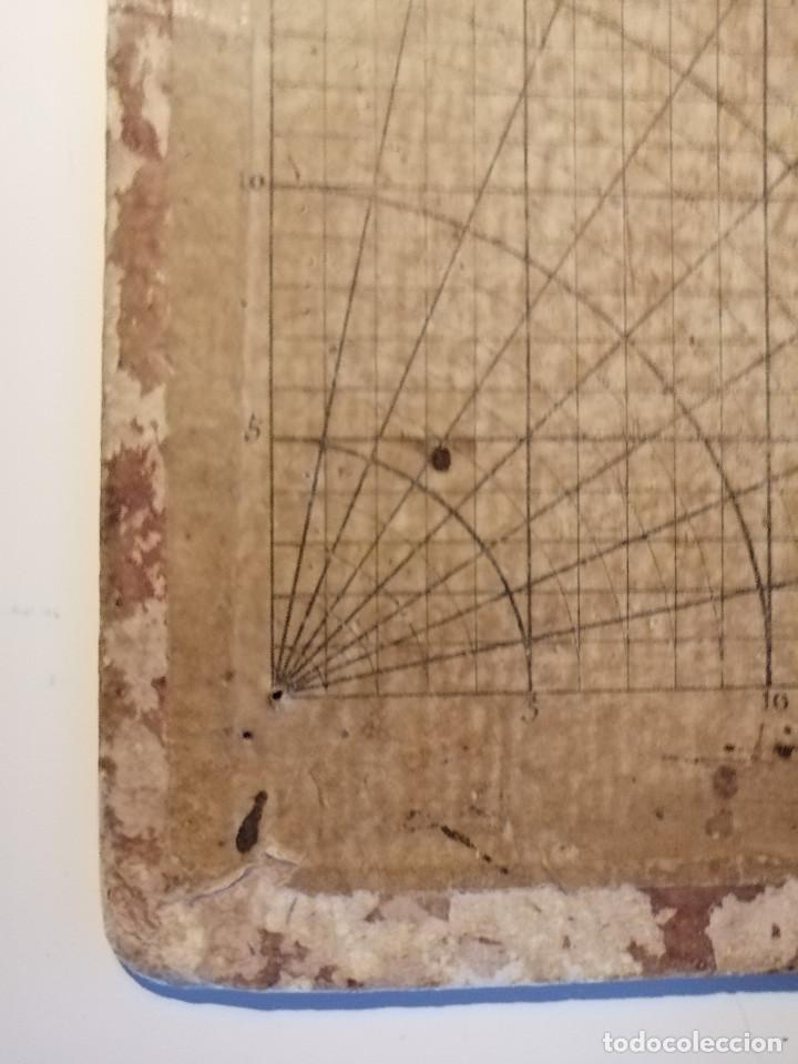 Antigüedades: Quadrante de Reducción y Transportador Nautico Rosell, Barcelona Ca. 1870-90 - Foto 3 - 199483116
