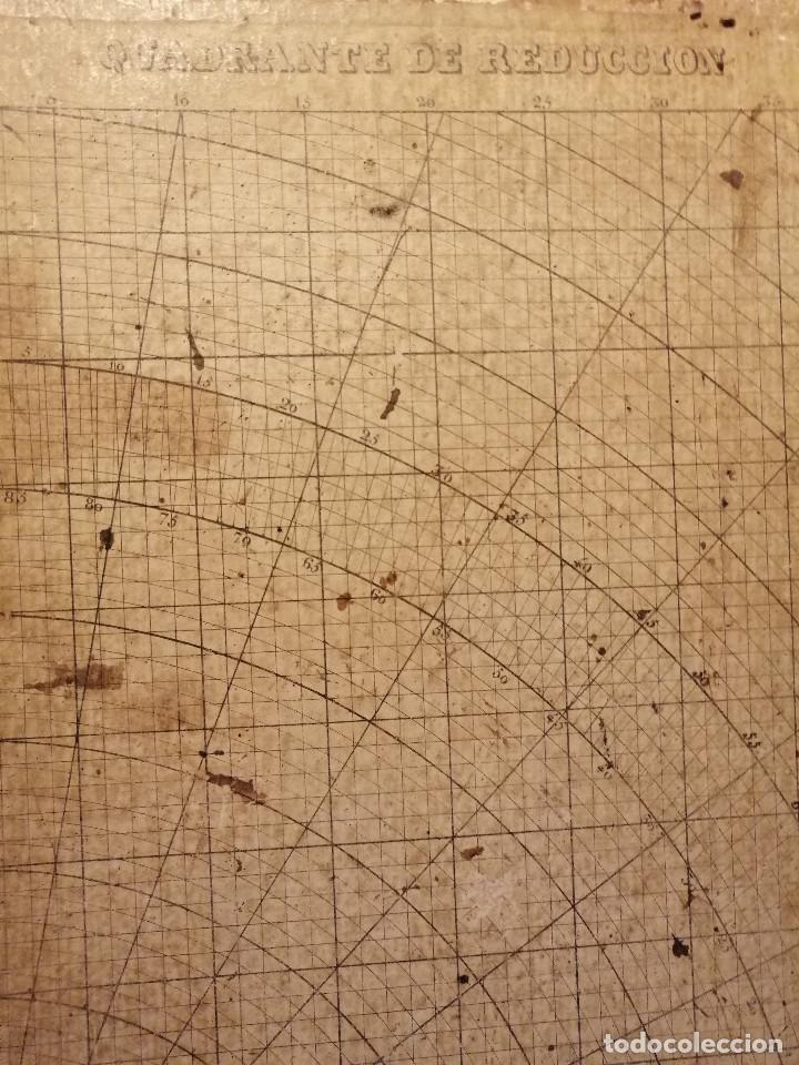 Antigüedades: Quadrante de Reducción y Transportador Nautico Rosell, Barcelona Ca. 1870-90 - Foto 4 - 199483116
