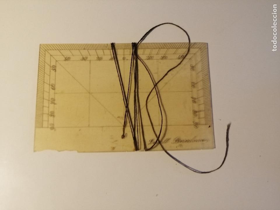 Antigüedades: Quadrante de Reducción y Transportador Nautico Rosell, Barcelona Ca. 1870-90 - Foto 6 - 199483116