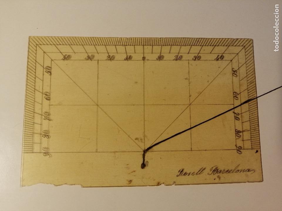 Antigüedades: Quadrante de Reducción y Transportador Nautico Rosell, Barcelona Ca. 1870-90 - Foto 8 - 199483116