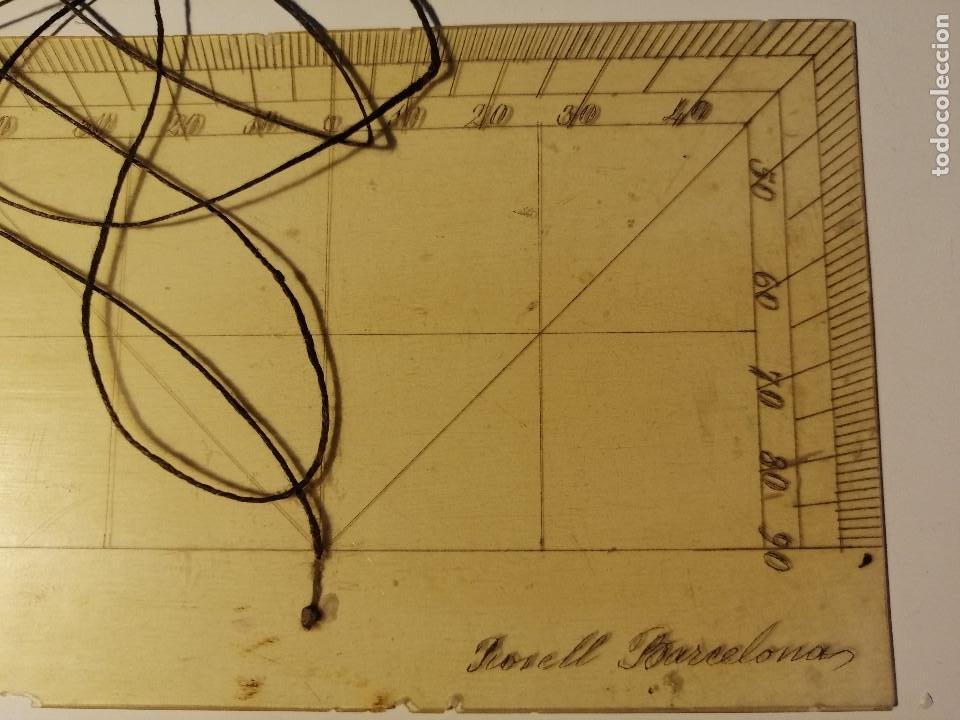 Antigüedades: Quadrante de Reducción y Transportador Nautico Rosell, Barcelona Ca. 1870-90 - Foto 9 - 199483116