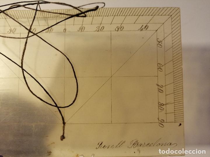 Antigüedades: Quadrante de Reducción y Transportador Nautico Rosell, Barcelona Ca. 1870-90 - Foto 10 - 199483116