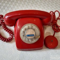 Teléfonos: TELEFONO HERALDO ROJO NUMERO EN DORADO. . Lote 199637345