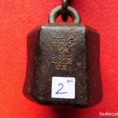 Oggetti Antichi: Nº 2 - ROMANA SIGLO XVIII FECHADA EN 1796 - PESO EN LIBRAS. Lote 199702952