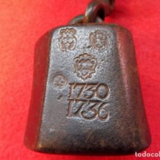 Antiquités: Nº 12 - ROMANA DEL SIGLO XVIII - FECHADA 1730 - 1736 - 1766 - PESO EN LIBRAS. Lote 199713101