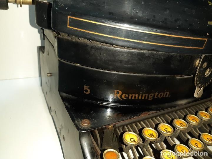 Antigüedades: Máquina escribir antigua Remington Noiseless 5 (años 20) - Foto 5 - 199753036