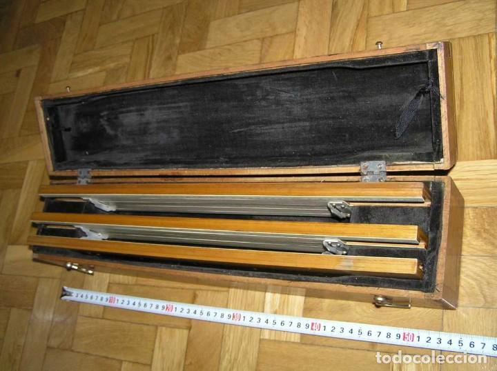 Antigüedades: 1936 TRES GRANDES REGLAS DE CÁLCULO EN SU COFRE DE MADERA REGLA SLIDE RULE RECHENSCHIEBE KEISANJYAKU - Foto 25 - 199770648