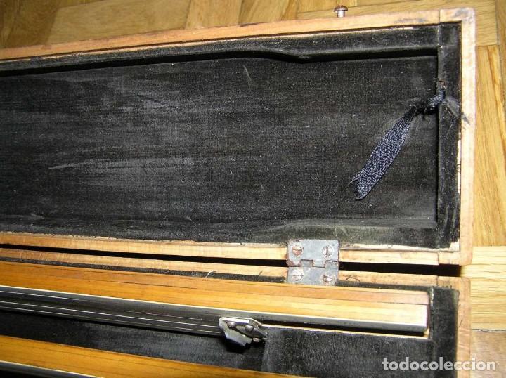 Antigüedades: 1936 TRES GRANDES REGLAS DE CÁLCULO EN SU COFRE DE MADERA REGLA SLIDE RULE RECHENSCHIEBE KEISANJYAKU - Foto 26 - 199770648