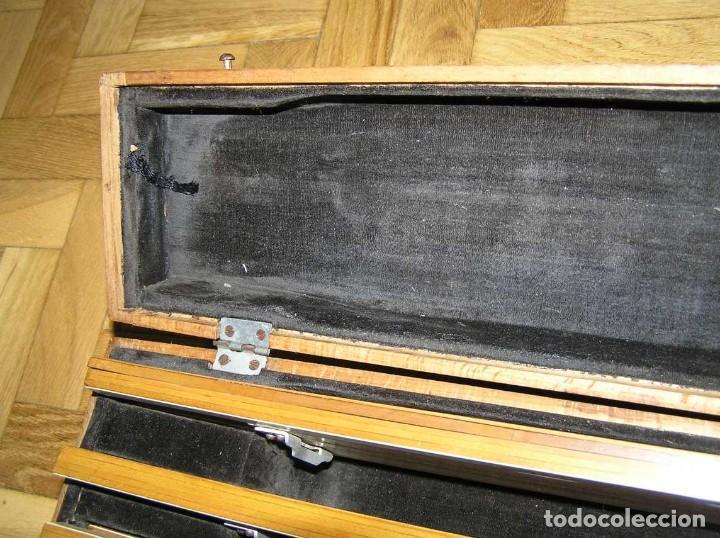Antigüedades: 1936 TRES GRANDES REGLAS DE CÁLCULO EN SU COFRE DE MADERA REGLA SLIDE RULE RECHENSCHIEBE KEISANJYAKU - Foto 27 - 199770648
