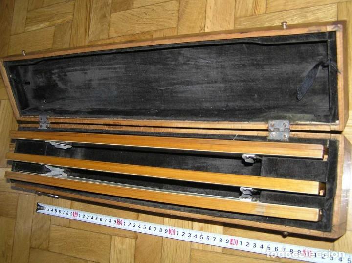 Antigüedades: 1936 TRES GRANDES REGLAS DE CÁLCULO EN SU COFRE DE MADERA REGLA SLIDE RULE RECHENSCHIEBE KEISANJYAKU - Foto 30 - 199770648