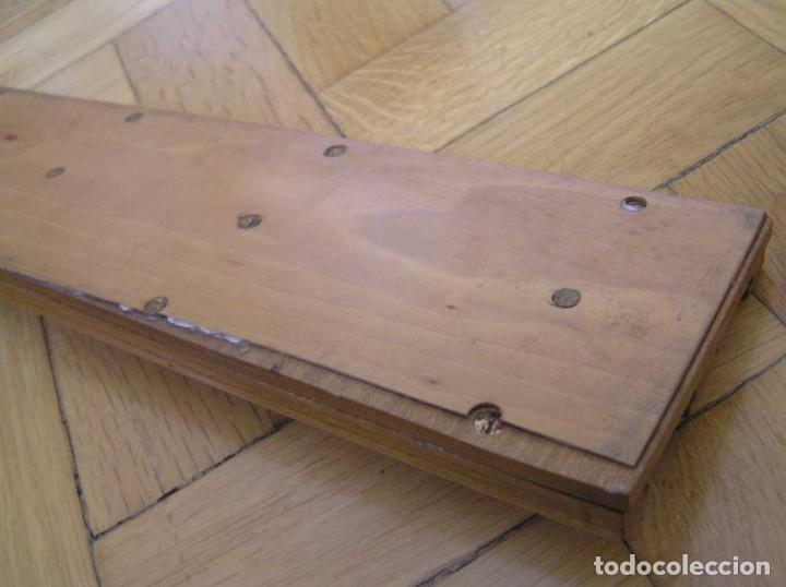 Antigüedades: 1936 TRES GRANDES REGLAS DE CÁLCULO EN SU COFRE DE MADERA REGLA SLIDE RULE RECHENSCHIEBE KEISANJYAKU - Foto 207 - 199770648
