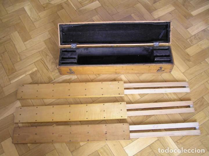 Antigüedades: 1936 TRES GRANDES REGLAS DE CÁLCULO EN SU COFRE DE MADERA REGLA SLIDE RULE RECHENSCHIEBE KEISANJYAKU - Foto 249 - 199770648