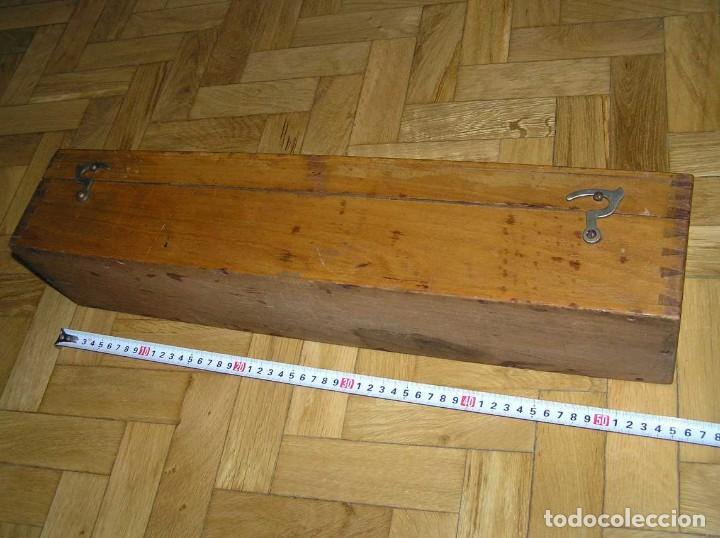 Antigüedades: 1936 TRES GRANDES REGLAS DE CÁLCULO EN SU COFRE DE MADERA REGLA SLIDE RULE RECHENSCHIEBE KEISANJYAKU - Foto 269 - 199770648