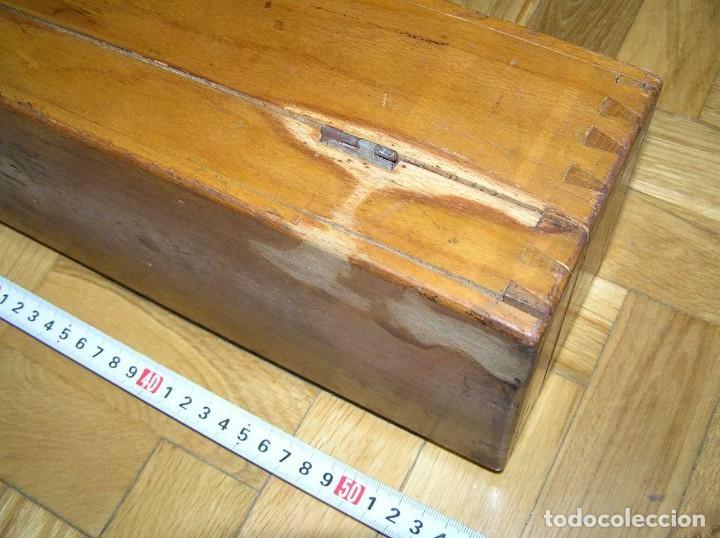 Antigüedades: 1936 TRES GRANDES REGLAS DE CÁLCULO EN SU COFRE DE MADERA REGLA SLIDE RULE RECHENSCHIEBE KEISANJYAKU - Foto 277 - 199770648