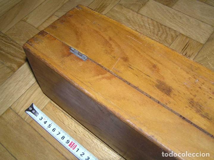 Antigüedades: 1936 TRES GRANDES REGLAS DE CÁLCULO EN SU COFRE DE MADERA REGLA SLIDE RULE RECHENSCHIEBE KEISANJYAKU - Foto 278 - 199770648