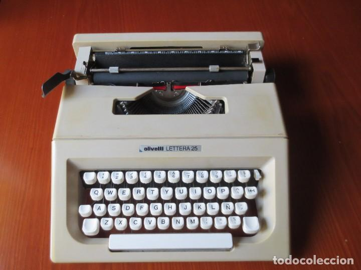 MAQUINA DE ESCRIBIR OLIVETTI LETTERA 25 (Antigüedades - Técnicas - Máquinas de Escribir Antiguas - Olivetti)