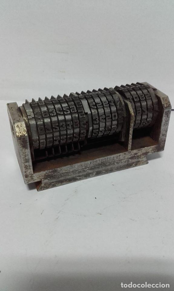 NUMERADOR TIPOGRAFIA DE 7,5 CMS (Antigüedades - Técnicas - Herramientas Profesionales - Imprenta)