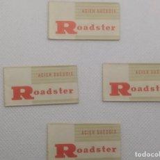 Antigüedades: LOTE CONJUNTO DE 4 HOJA DE AFEITAR CON FUNDA - ROADSTER. Lote 199837512