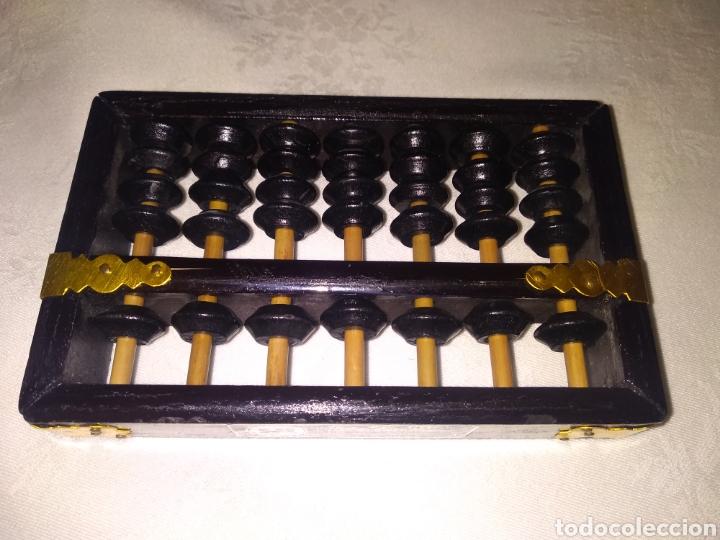 ÁBACO PEQUEÑO DE LOTUS-FLOWER BRAND REPÚBLICA CHINA (Antigüedades - Técnicas - Aparatos de Cálculo - Ábacos Antiguos)