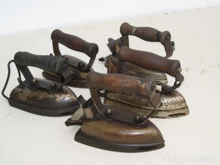 Antigüedades: Lote de 5 planchas electricas antiguas. Ver descripcion. - Foto 26 - 200066243