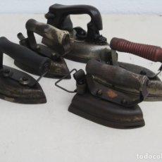 Antigüedades: LOTE DE 5 PLANCHAS ELECTRICAS ANTIGUAS. VER DESCRIPCION.. Lote 200066668