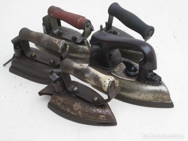 Antigüedades: Lote de 5 planchas electricas antiguas. Ver descripcion. - Foto 29 - 200066668