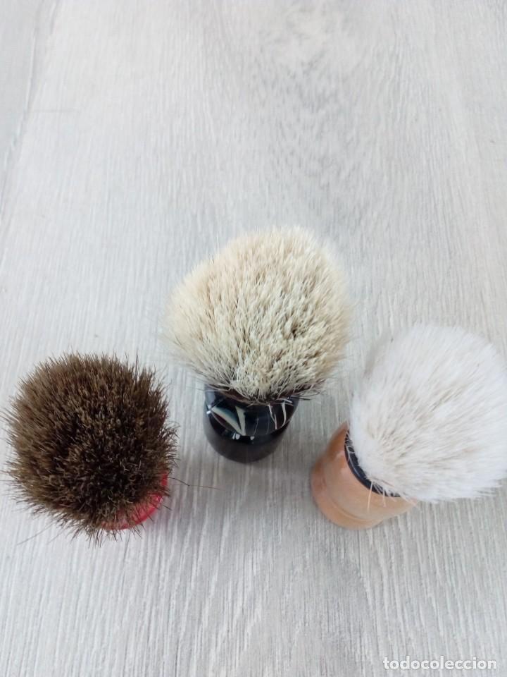 Antigüedades: Antiguas Brochas de barbero-Años 70 - Foto 3 - 200247093