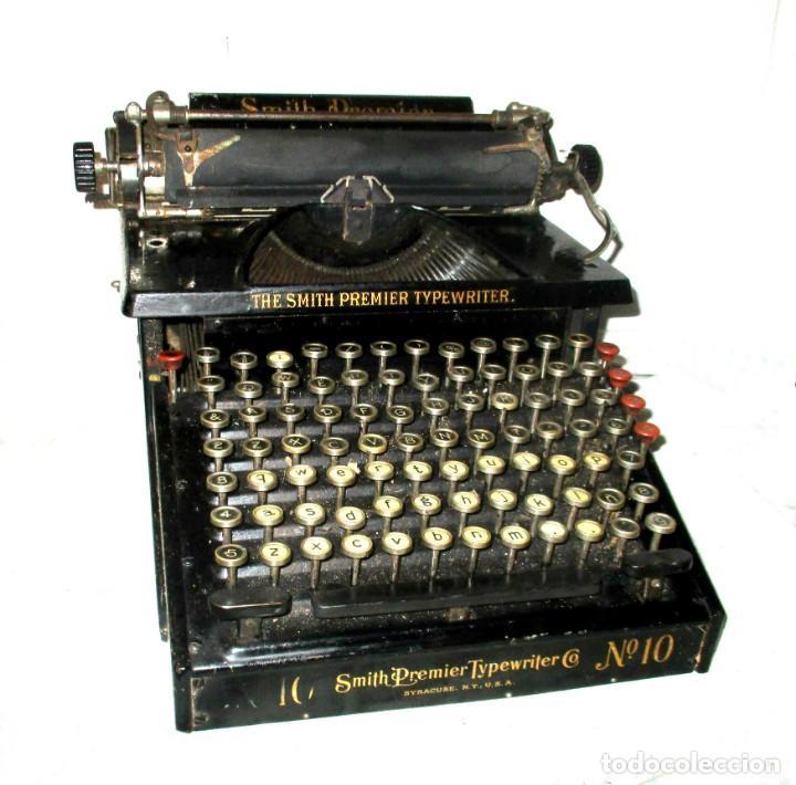 MÁQUINA DE ESCRIBIR SMITH PREMIER MODELO 10-A. DOBLE TECLADO. (Antigüedades - Técnicas - Máquinas de Escribir Antiguas - Smith)