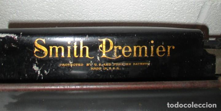 Antigüedades: MÁQUINA DE ESCRIBIR SMITH PREMIER MODELO 10-A. DOBLE TECLADO. - Foto 7 - 200280883
