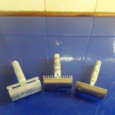 Antigüedades: LOTE 2 DE 3 MAQUINILLAS DE AFEITAR. Lote 200320606