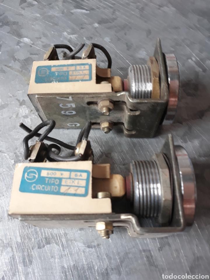 Antigüedades: Pareja de pulsadores máquina mecanismo - Foto 2 - 200326288