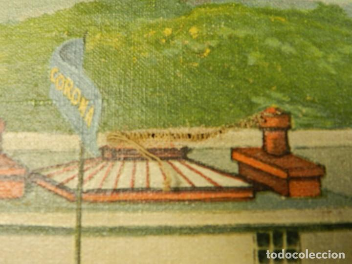 Antigüedades: PINTURA FABRICA DE LA MAQUINA DE ESCRIBIR CORONA TYPEWRITER Cº SCHREIBMASCHINE - Foto 8 - 200328260