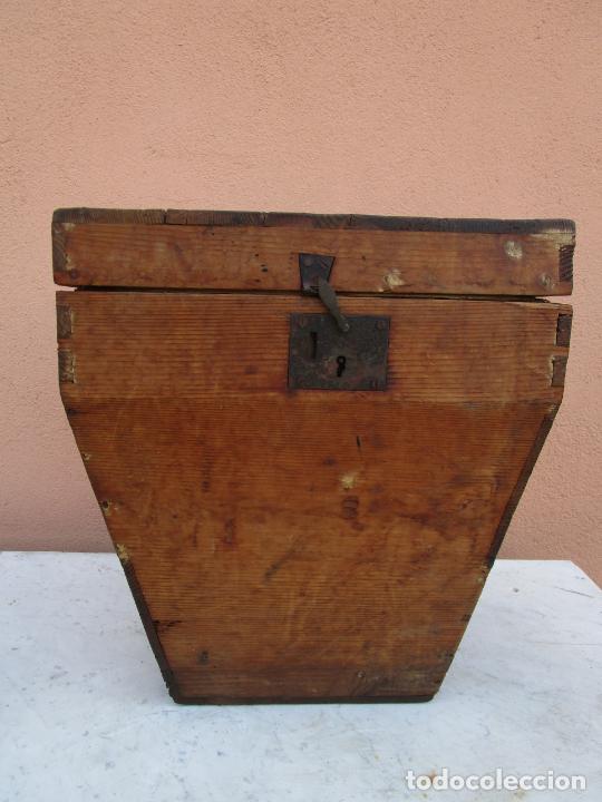 Antigüedades: Antigua Caja - Teodolito - Aparato Topográfico Militar - Madera de Pino - S. XIX - Foto 2 - 200363153