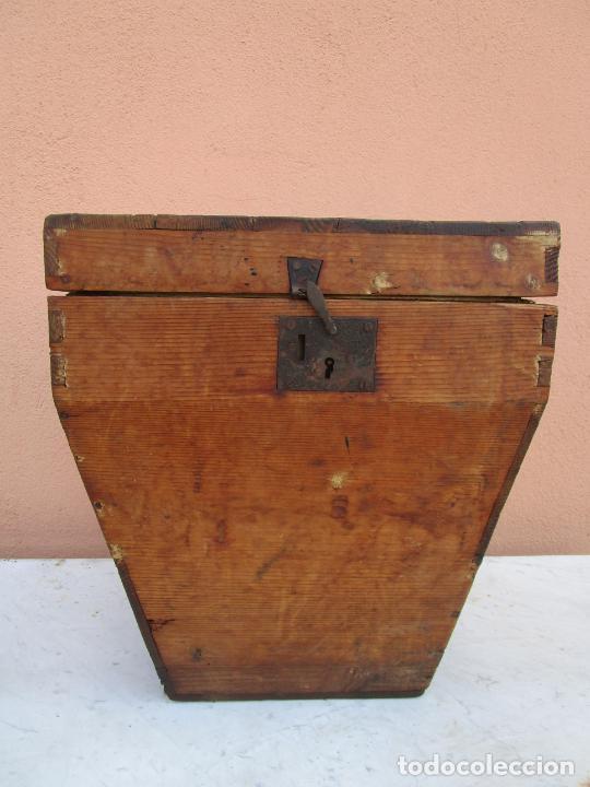 Antigüedades: Antigua Caja - Teodolito - Aparato Topográfico Militar - Madera de Pino - S. XIX - Foto 4 - 200363153