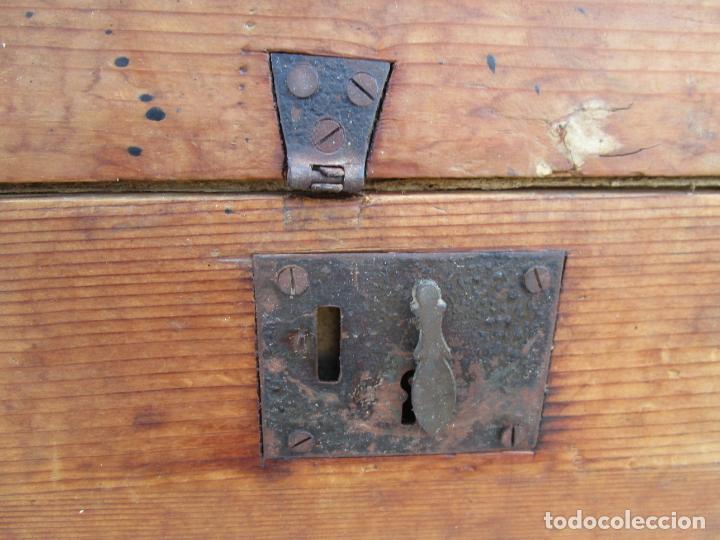 Antigüedades: Antigua Caja - Teodolito - Aparato Topográfico Militar - Madera de Pino - S. XIX - Foto 5 - 200363153