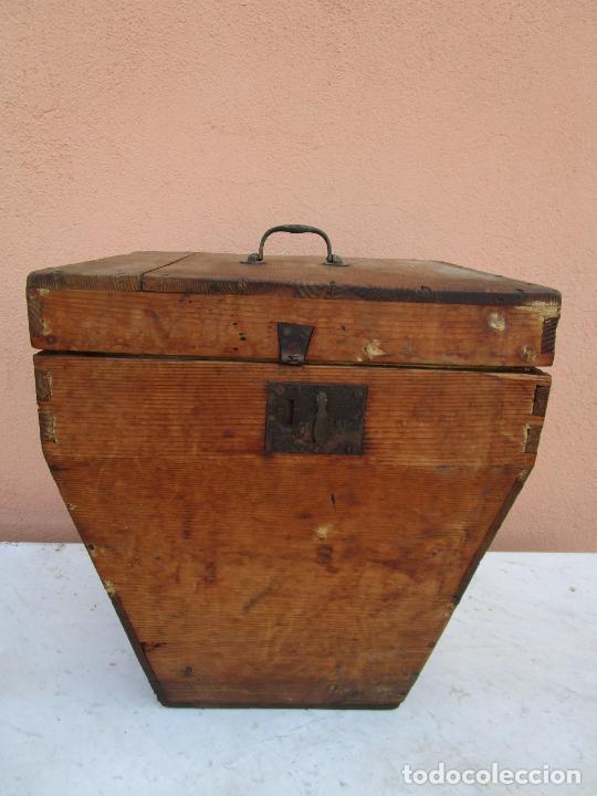 Antigüedades: Antigua Caja - Teodolito - Aparato Topográfico Militar - Madera de Pino - S. XIX - Foto 7 - 200363153